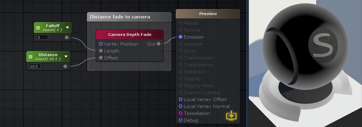 Unity Products:Amplify Shader Editor/Camera Depth Fade - Amplify