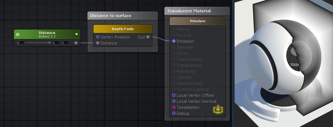 Unity Products:Amplify Shader Editor/Depth Fade - Amplify