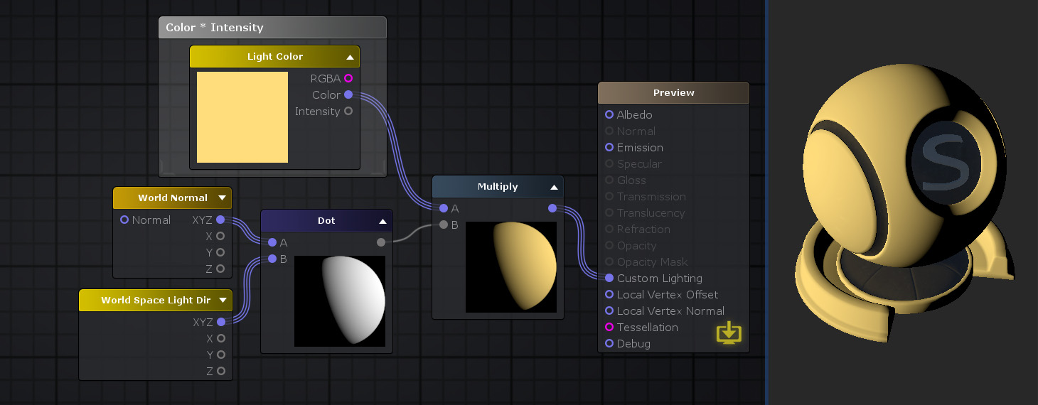 Unity Products:Amplify Shader Editor/Light Color - Amplify