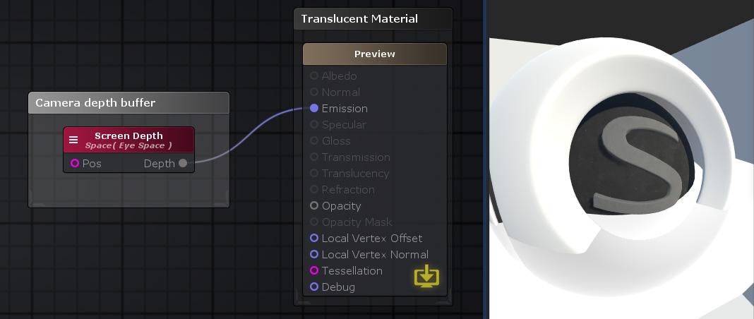 Unity Products:Amplify Shader Editor/Screen Depth - Amplify