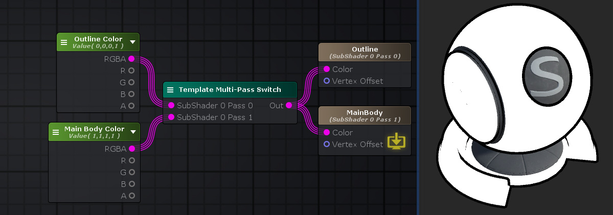 Unity Products:Amplify Shader Editor/Template Multi-Pass Switch