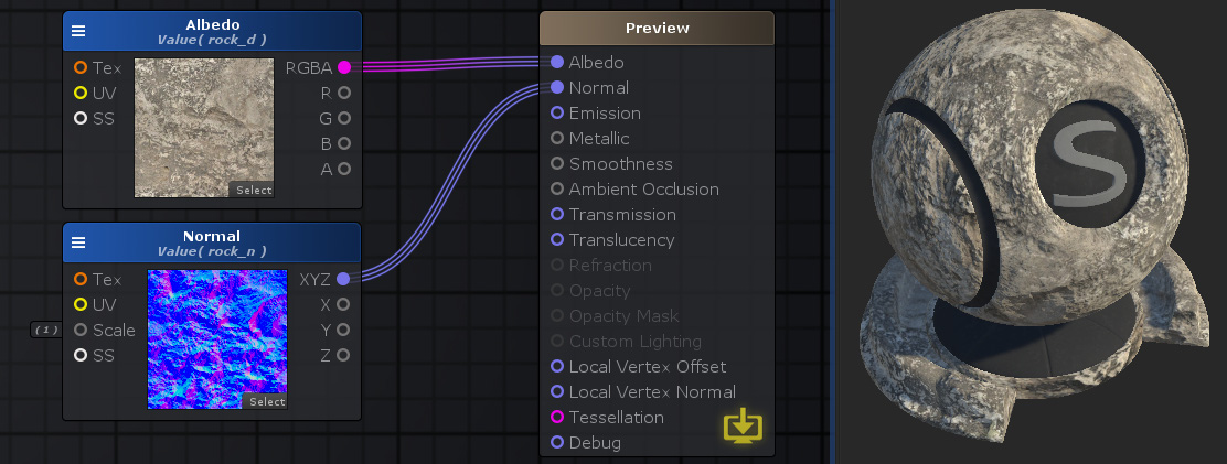 Unity Products:Amplify Shader Editor/Texture Sample