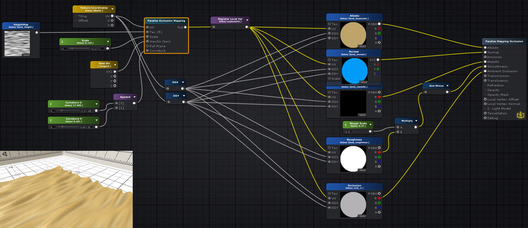 Unity Products:Amplify Shader Editor/Parallax Occlusion Mapping