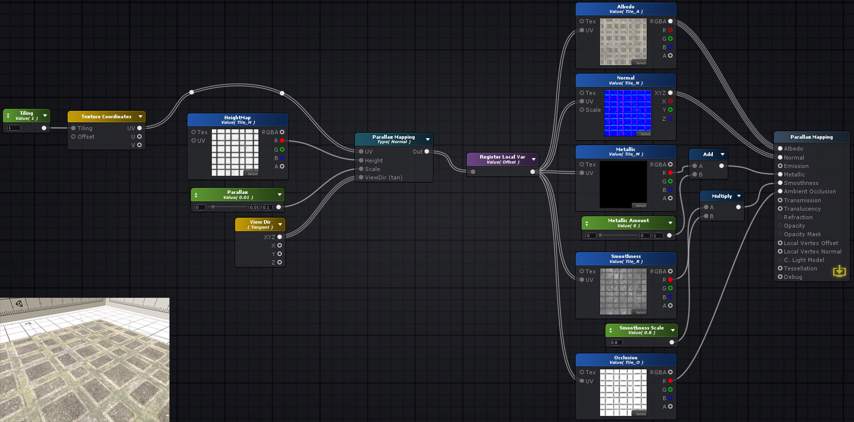Unity Products:Amplify Shader Editor/Parallax Mapping